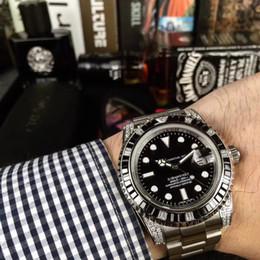 Sub Steel Canada - 2018 AAA top luxury brand men sub watch 40mm mobile diamond automatic mechanical watch stainless steel strap wrist watch