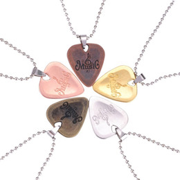 Necklaces Pendants Australia - Hot Selling Personalized Guitar Pick Necklace Zinc Alloy Pendants Necklaces Wholesale
