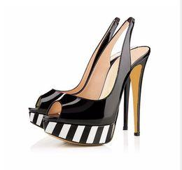 2fe6833a37cf Sexy Peep toe Women Pumps Platform High Heels Black Nude Red Leopard Mixed  Colors Slingbacks Sexy Sandal Pumps Fashion Party Dress Shoes