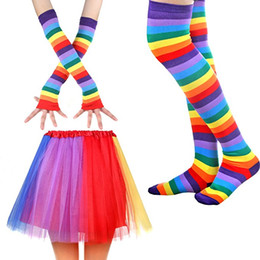 $enCountryForm.capitalKeyWord NZ - Hot Selling Unicorn Tutu Skirt Dress with Unicorn Horn Headband leggings socks gloves Set Kids Children baby Birthday Party Costumes Outfit