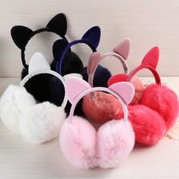 $enCountryForm.capitalKeyWord Canada - Female Winter cartoon Earmuff Warm Headband Ear Muffs for Girls faux fur Earmuffs Cat Shape Earmuff ear warmers Protector