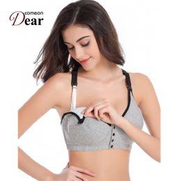 Pregnant Set Canada - Comeondear Underwear Set Sleep Bras for Nursing Pregnant Maternity BB017 Front Opening Buckle Comfortable Breastfeeding Bra