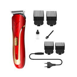 KEMEI KM-1409 Hair Clipper Electric Razor Men Carbon Steel Head Shaver Hair Trimmer Rechargeable Trimer Electric Beard on Sale