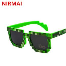 847e00383e NIRMAI popular sunglasses 8-bit pixel female men sunglasses female male  mosaic unisex vintage glasses UV400