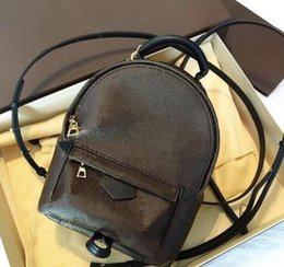 Luxury Designer Women s Palm Springs Mini Backpack Punk style genuine  leather children backpack printing leather Mini backpacks new 74f2f698c8346