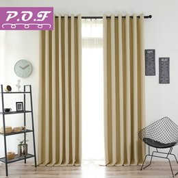 Discount white color windows - P.O.F Curtains For Living Room Two-sided Matte Solid Color Blackout curtain Simple Modern Window Treatment Custom Made