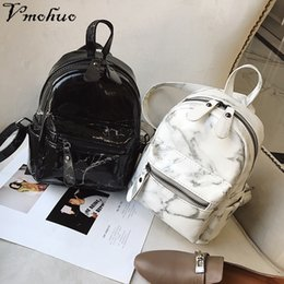 Small Black Back Pack NZ - VMOHUO Marble Pattern Backpack Women Small Backpack PU Leather Rucksack for Teenage Girls Black White 2018 Female Cute Back Pack