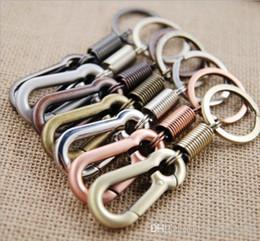 $enCountryForm.capitalKeyWord NZ - Metal Gourd Buckle Keychain Key Chain Waist Belt Clip Anti-lost Buckle Hanging Retractable Travel Adventure Keyring Key Ring Men Women Gifts