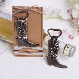 China Just Hitched wine opener Cowboy Boot Wine Bottle Opener alloy cowboy boot openers wedding party favors guest gift cheap wedding cowboy boots suppliers