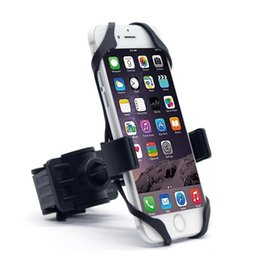 $enCountryForm.capitalKeyWord UK - 2018 Universal Bike Bicycle Motorcycle Handlebar Mount Holder Phone Holder With Silicone Support Band For Iphone 6 7 plus Samsung s7 s8 edge