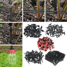Flower sprinklers online shopping - Bulk Adjustable Micro Flow Drip Head Barb Irrigation Watering Dripper Sprinkler Flower Pots Greenhouse Tools Garden Decor BBA260