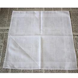 Venta al por mayor de 100% Algodón Pañuelo Blanco Tabla Masculina Satén Hankerchief Toalla Cuadrada Tejer Sudor absorbente de sudor Toalla HH7-916
