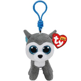 Husky Toys UK - Ty Beanie Boos Big Eyes Plush Husky Keychain Toy Doll With Tag