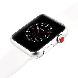 China Goophone Watch 3 W53 42mm Stainless Steel Smart Watch Sapphire Mirror Wireless Charger MTK2502C Bluetooth 4.0 Heart Rate for iPhone X 8 Plus suppliers