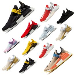 golf pw 2019 - Cheap PW HU trail x Athletic Shoes for Men Women human race Yellow Black White Equality NERD blue womens sports sneaker