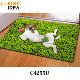 floor mats designs NZ - Green Sexy Dog Funny Design Bath Mats Thin Kitchen Carpets Yellow Purple Bathroom Carpet Rugs and Mats Animal Floor Mat for Home