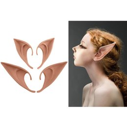 "Résultat de recherche d'images pour ""New 1 Pair Mysterious Angel Elf Ears Halloween Costume Props Cosplay Accessories Latex Prosthetic False Ears Party Supplies"""