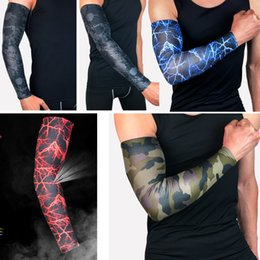 $enCountryForm.capitalKeyWord Canada - Custom Logo Lightning Printing Elbow Brace Basketball Arm Sleeve Breathable Sport Compression Pads Support FBA Drop Shipping G442S