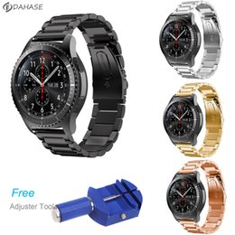 $enCountryForm.capitalKeyWord Australia - Stainless Steel Watch Band for Samsung Gear S3 Frontier Strap for Gear S3 Classic Smart Watch Bracelet with Adjust Tool