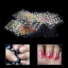 $enCountryForm.capitalKeyWord Canada - 30 Sheets Mixed Design 3D Nail Art Stickers Manicure Tips Flower Polish Decals Nail Art Decorations Transfer Foil Wraps Sticker