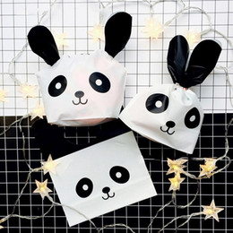 $enCountryForm.capitalKeyWord NZ - 50Pcs Pack Panda Cookie Plastic Candy Biscuit Packaging Bag Shopping Bag Wedding Party Supplies Gift