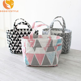 Discount office tote bags for women - Portable Lunch Bag Thermal Insulated Tote Cooler Pouch Storage Box Cotton Linen with Drawstring Household for Office Wom