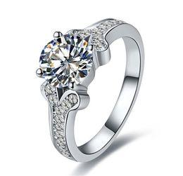 $enCountryForm.capitalKeyWord Australia - Famous Test Real 2CT 8MM G-H Round Cut Moissanite Diamond Ring CHARLES & COLVARD Certificate 925 Sterling Silver Wedding Ring
