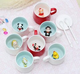 $enCountryForm.capitalKeyWord NZ - Creative Small Ceramic Cup Milk Mug with Animal Cute Cartoon Three-dimensional Coffee Cups Heat-resistant 3D Mugs Nice Gift for Kids