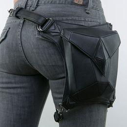 Free shipping punk bags online shopping - Men s Women Casual Steam Punk Multi purpose Shoulder Polygon Messenger Bag Retro Leg Holster Bags G217S