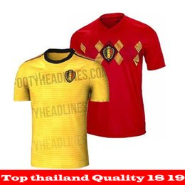 TOP QUALITY 2018 World Cup Belgium Soccer jerseys 18 19 Home away jersey  LUKAKU HAZARD VERMAELEN KOMPANY DE BRUYNE Football shirts 6fbfb474c