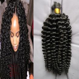 afro kinky bulk braiding hair 2019 - Cheap Sales 8A Loose Curly Human Braiding Hair Bulk No Weft Natural Black Human Afro Kinky Bulk 100g 1pcs Human Braiding