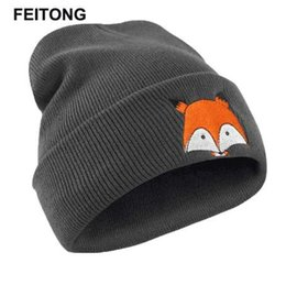 $enCountryForm.capitalKeyWord Australia - FEITONG Winter Hats For Women Embroidery Pattern Hat Unisex Hat Knitted Cap Hats Warm Cap Soft Cap #EW