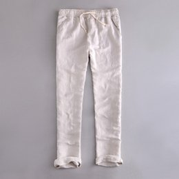 0af23e1e0f5e 6 India and Brazil Style Elastic waist loose Pants Men Linen Breathable and  comfortable Cotton Trousers Men Casual Pantalones 38 blue linen trousers men  ...