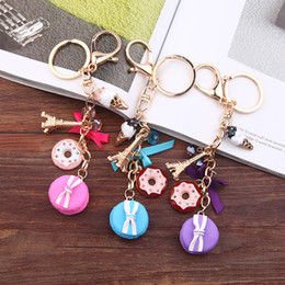 $enCountryForm.capitalKeyWord Australia - Cake car key chain ornament tower, Ma Caron bag pendant key chain manufacturer wholesale