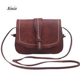 Wholesale Ladies Brand Handbags NZ - 2018 New Vintage Bag Women Fashion Handbag Famous Brand Shoulder Bag Large Tote Messenger Ladies Purse Crossbody