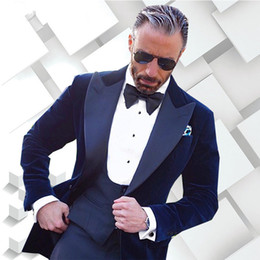 $enCountryForm.capitalKeyWord NZ - Tailor Made Navy Blue Men Suits Slim Fit Formal Groom Prom Blazer 3 Piece Tuxedo Male Coat Dress Clothes Jacket+Pant+Vest Terno