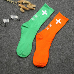 Chinese  2018 men women long socks places faces p+f cross streetwear hip hop harajuku kanye west fear of god cotton happy funny socks manufacturers