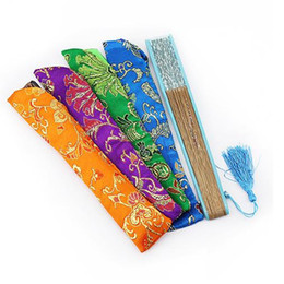 $enCountryForm.capitalKeyWord UK - Chinese Ancient Style Retro Folding Hand Fan Long Shape Pouch Storage String Drawing Bag Decorative Gift Cover Case jc-369