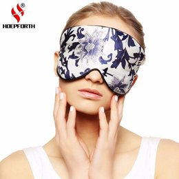Wholesale Natural Silk Sleep Mask Blindfold Super Smooth Eye Mask Sleeping Face Mask Printing all Night