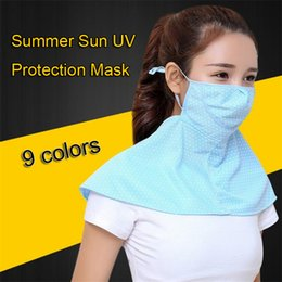 Summer Sun UV Protection Mask 9 Colors Face Neck UV Protection Breathable Mask Outdoor Riding Dust-proof Sunblock Mask LA850 from kids polaroid glasses suppliers