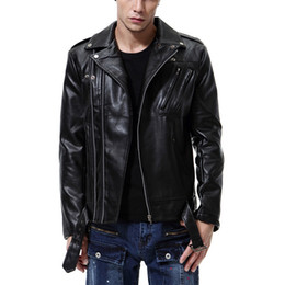 Chinese  5XL Leather Jackets Mens Bikers Jackets PU Leather Coats Waterproof Tops Male Clothing Large Size 2018 High Quality manufacturers
