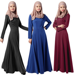 $enCountryForm.capitalKeyWord NZ - High Quality Maxi Dresses Abaya Kaftan Elegant Long Sleeve Muslim Dress for Women Turkish Islamic Clothes