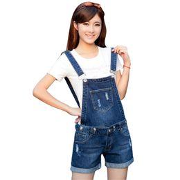 a6f759b2856 New Summer Women Cowboy With Shorts Jumpsuits Removable Slim Korean Version  Denim Bodysuit Female Pocket DMS22