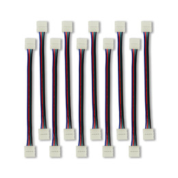 $enCountryForm.capitalKeyWord Australia - WIXURE 10PCS LED Strip Connector 5050 RGB Light Connector 4 Conductor 10 mm Wide Strip to Strip Jumper