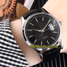 Cheap big dial watChes online shopping - 6 Color Cheap Luxry MASTER COMPRESSOR q1728470 Black Big Date Dial Automatic Mens Watch Silvery L Steel Case Leather Strap Gents Watches