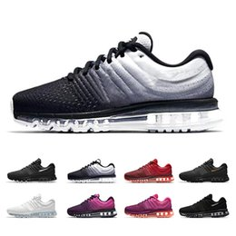 sports hiking 2019 - Maxes 2017 Mens Running Shoes air Cushion for Women Designer Sneakers Triple White Black High quality outdoor Running sp