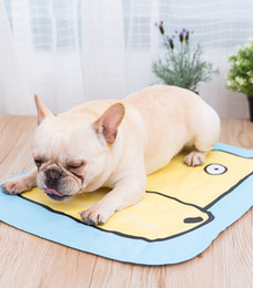 cartoon beds Australia - Summer Pet Ice Mat 68cm Cooling Pad Sleeping Mats Tearing resistance Easy to Cleaning Cartoon Dog Pet Bed