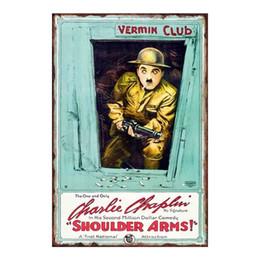 $enCountryForm.capitalKeyWord UK - Charlie Chaplin VERMIN CLUB Shouldrs Arms Vintage tin sign home Bar Pub Hotel Restaurant Coffee Shop home Decorative Retro Metal Poster
