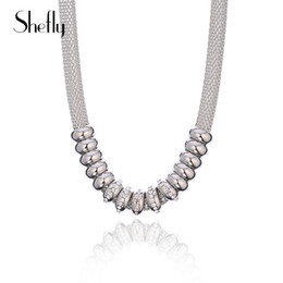 Trendy Christmas Gifts Australia - Statement Luxury Beads Chains Necklace Silver Colour Clear Crystal Trendy Necklace Jewelry For Women Birthday Party Gifts Kolye