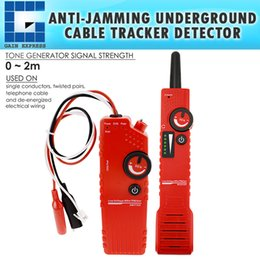 Discount test battery cables NF-819_US Underground Cable Tracker Detector Tester Wire Locator Low Voltage w  Polarity Test Function & Rechargeable Ba